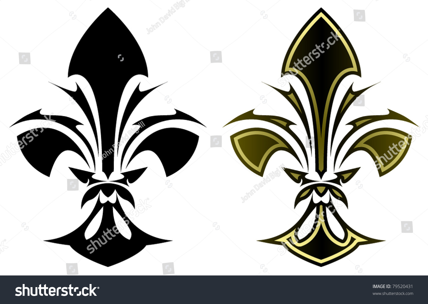 Fleur De Lys Symbol Stylized Tattoo Stock Vector Royalty Free