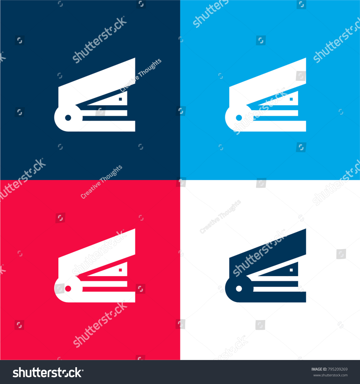 Stapler Four Color Material Minimal Icon Stock Vector HD (Royalty ...