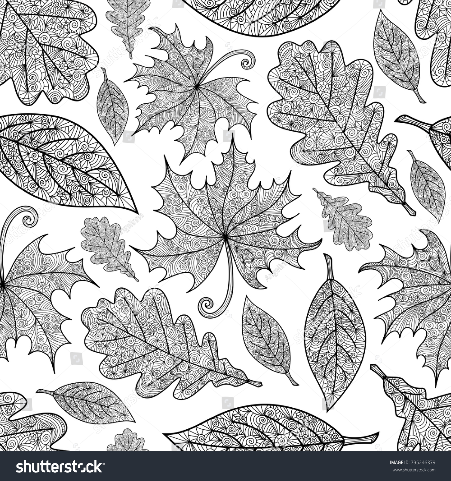 autumn leaves. Vector vintage | EZ Canvas