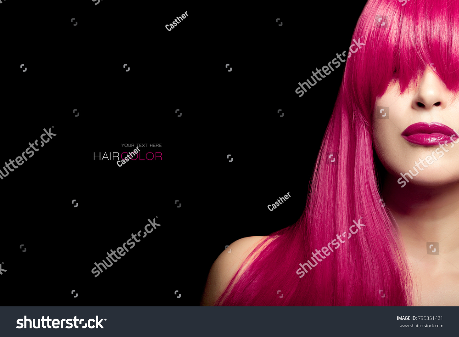 Hair Color Beauty Concept Young Woman Stock Photo Edit Now