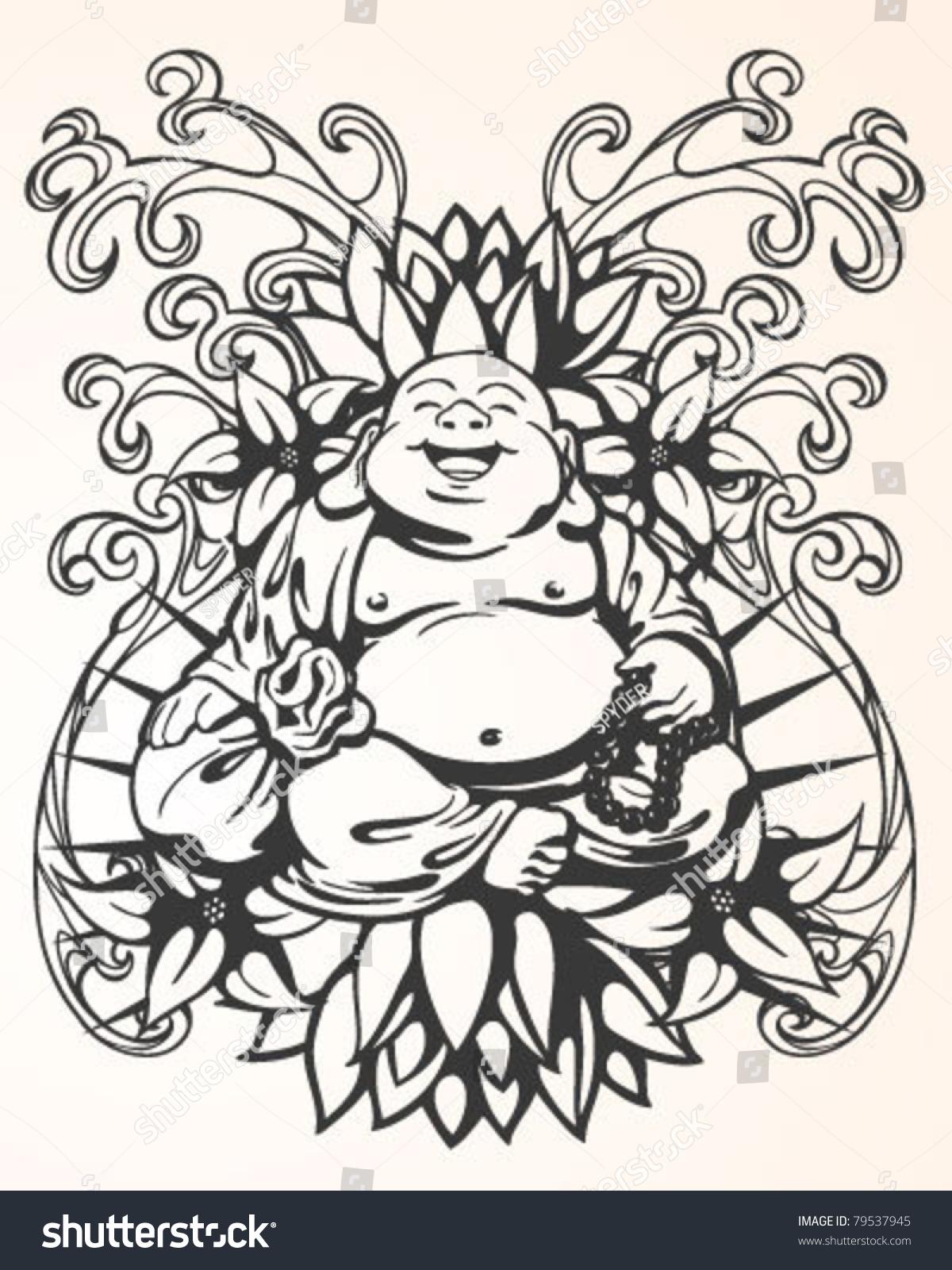 Tattoo Buddha Design Stock Vector 79537945 - Shutterstock