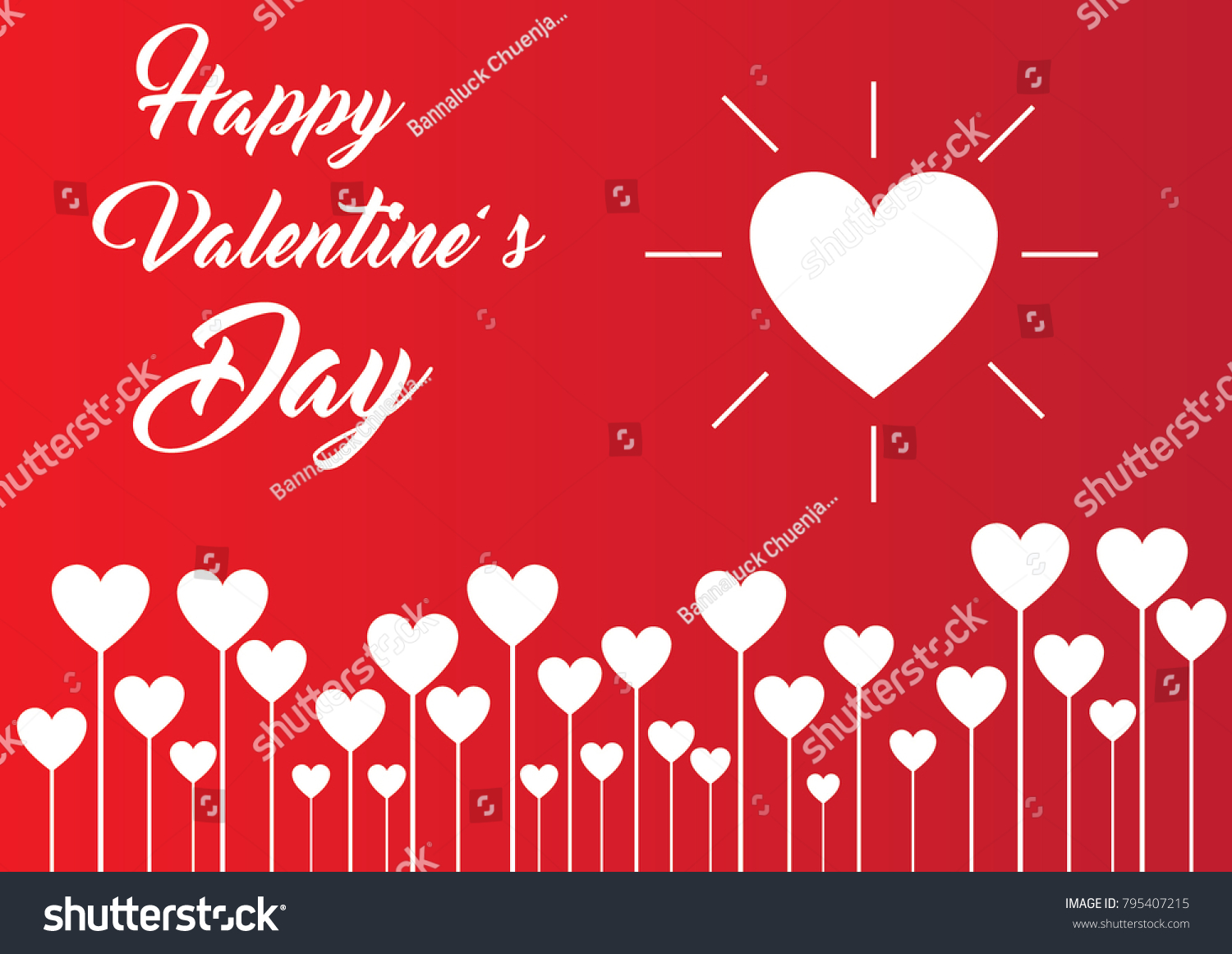 valentines day love hearts wallpaper background stock vector