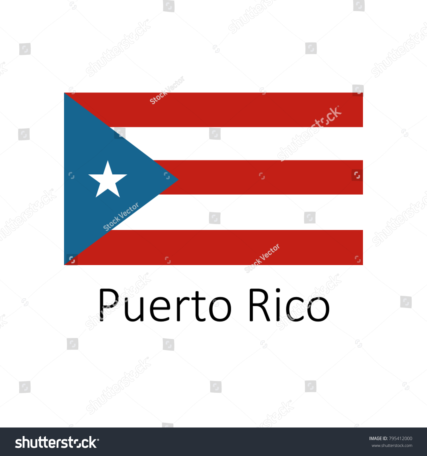 Flag puerto rico name icon official stock vector 795412000 flag of puerto rico with name icon official colors and proportion correctly national puerto biocorpaavc Image collections
