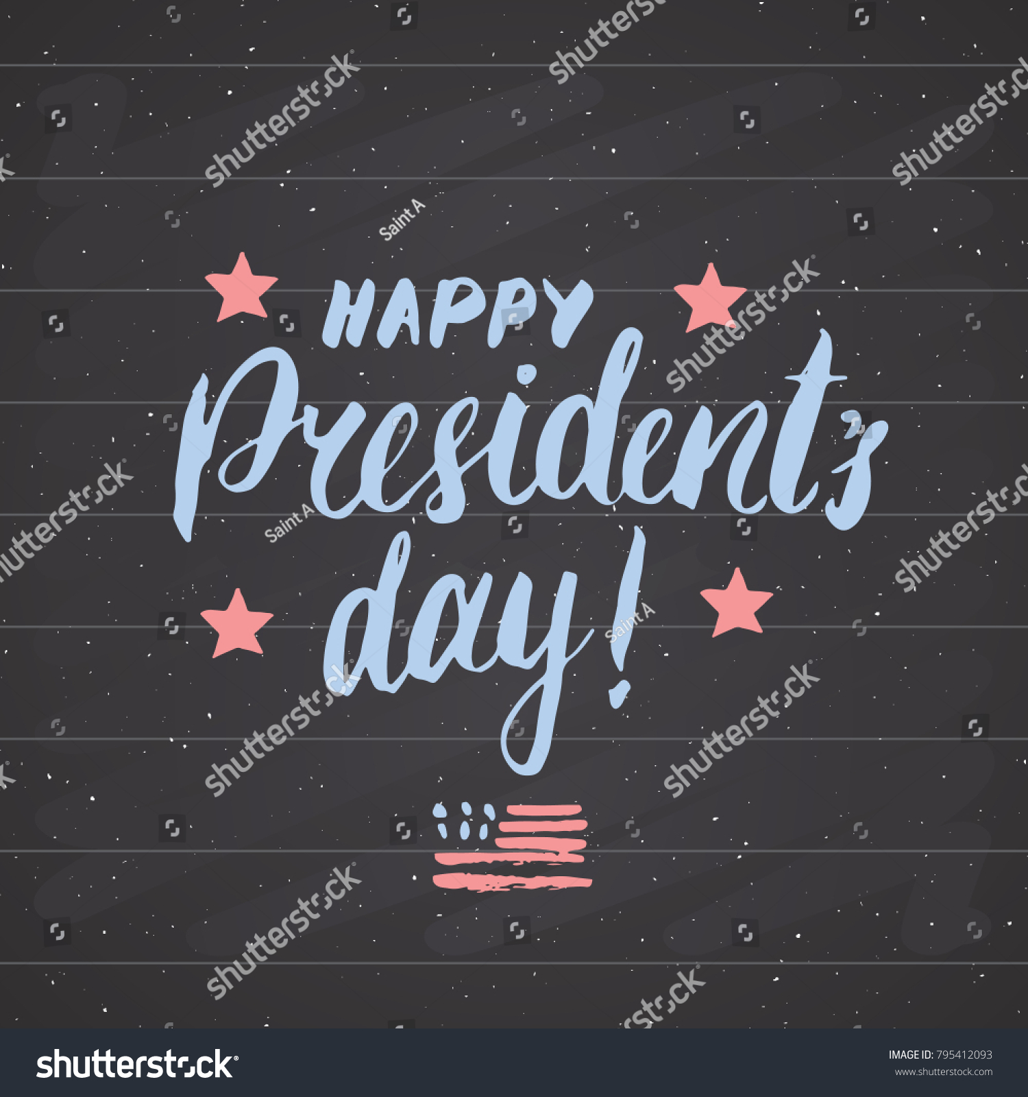 Happy presidents day vintage usa greeting stock vector 795412093 happy presidents day vintage usa greeting card united states of america celebration hand lettering kristyandbryce Images