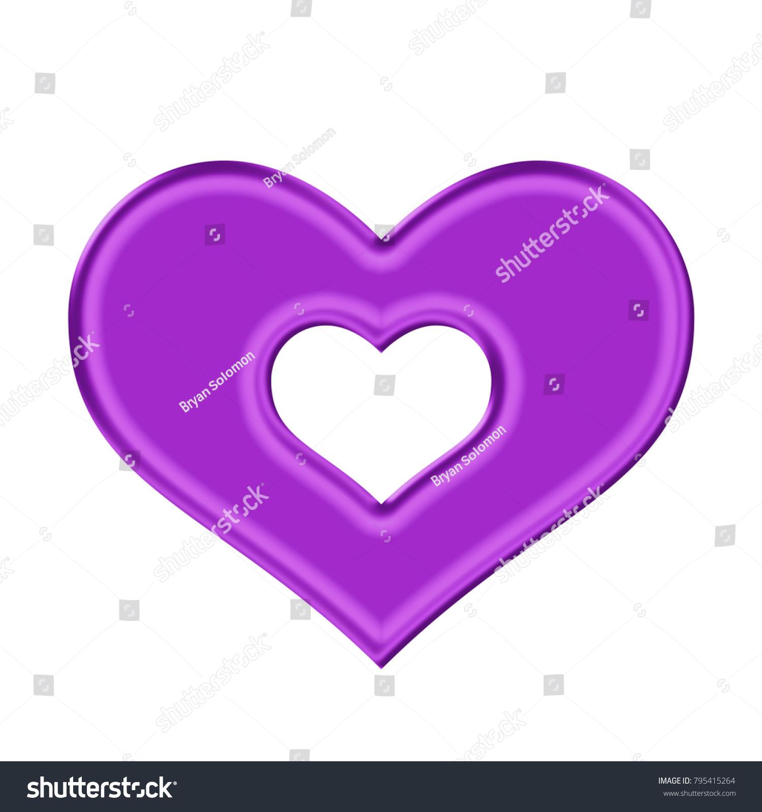 Shiny silky purple heart inner heart stock illustration 795415264 shiny silky purple heart with inner heart shape in a 3d illustration with a silk style buycottarizona