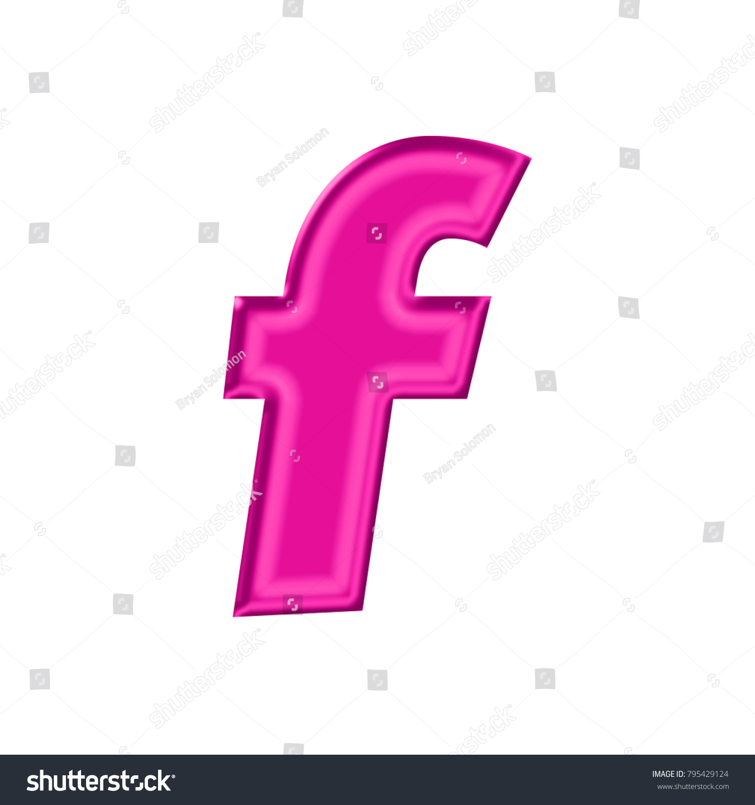 Shiny Plastic Pink Lowercase Small Letter Stock Illustration ...