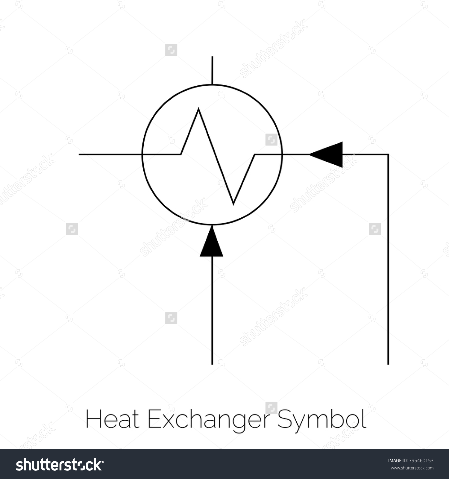 Heat Exchanger Physics Symbol Stock Vector Royalty Free 795460153