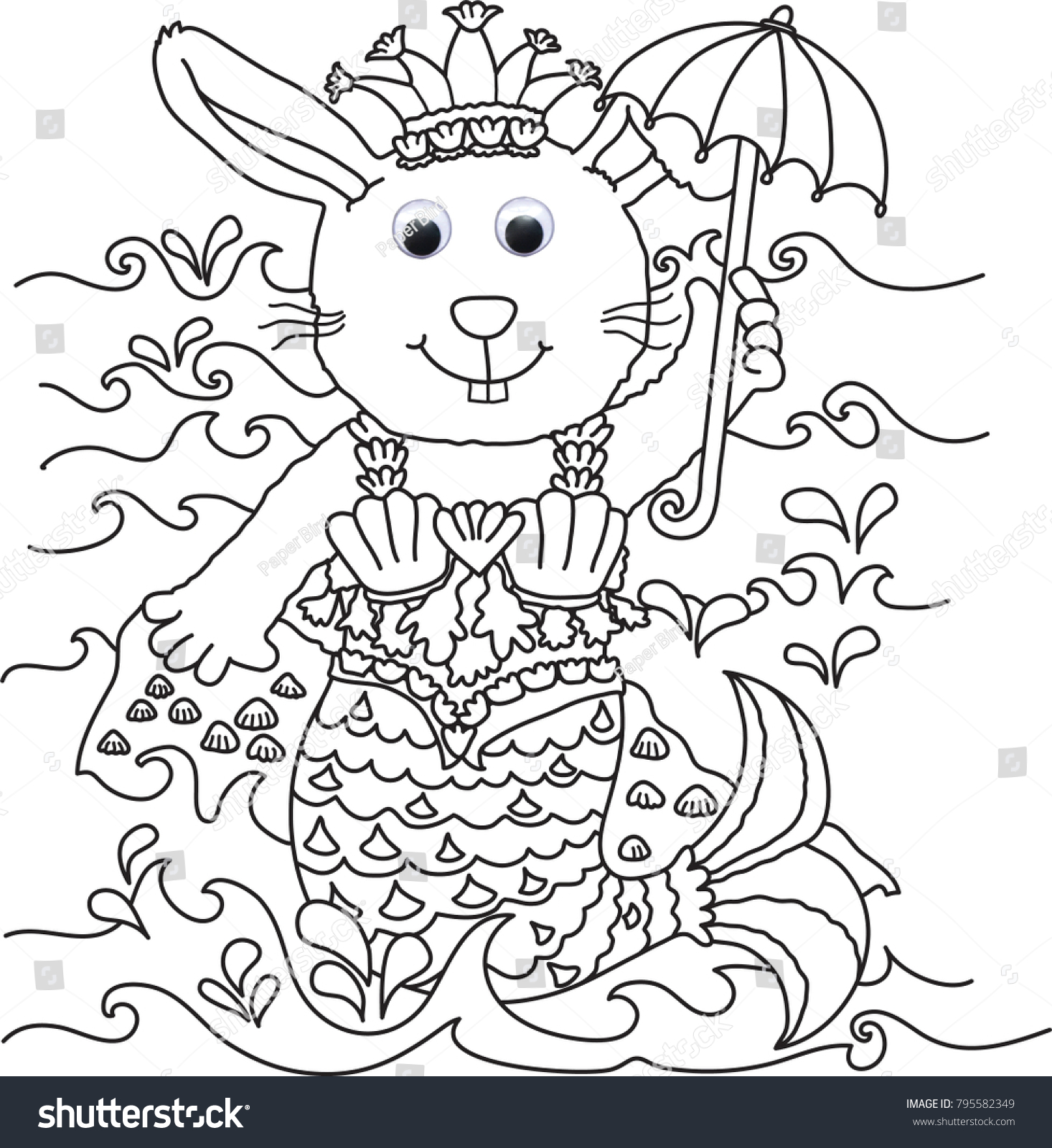 Dress Bunny Images Colouring Book Activity Stock Illustration ...