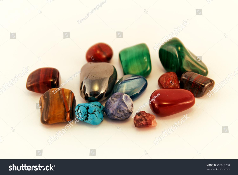 Semi Precious Stones Crystal Stone Types Stock Photo Edit Now