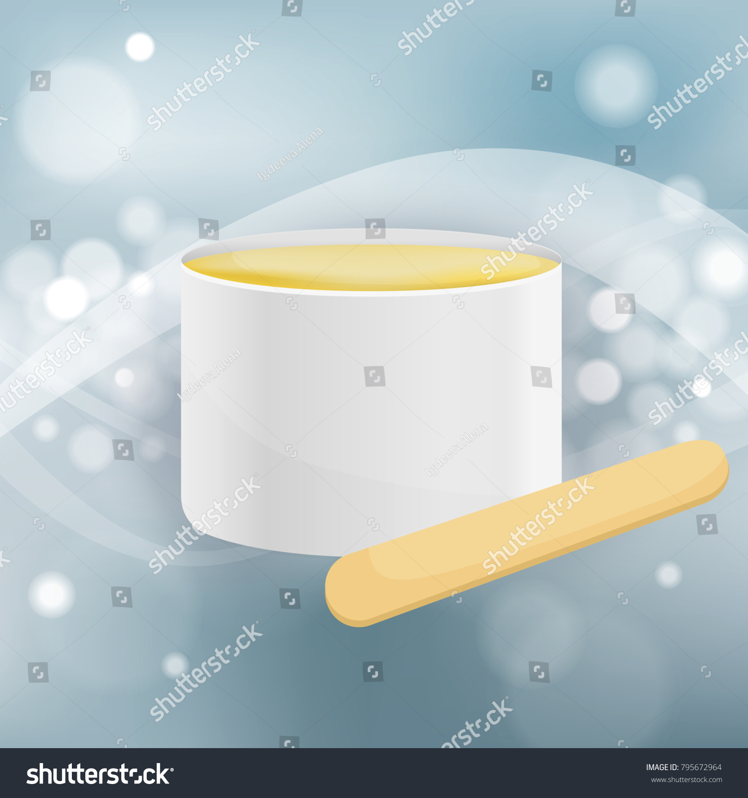 Waxing Stick Wax Jar Hair Removal Stock Vector Royalty Free 795672964