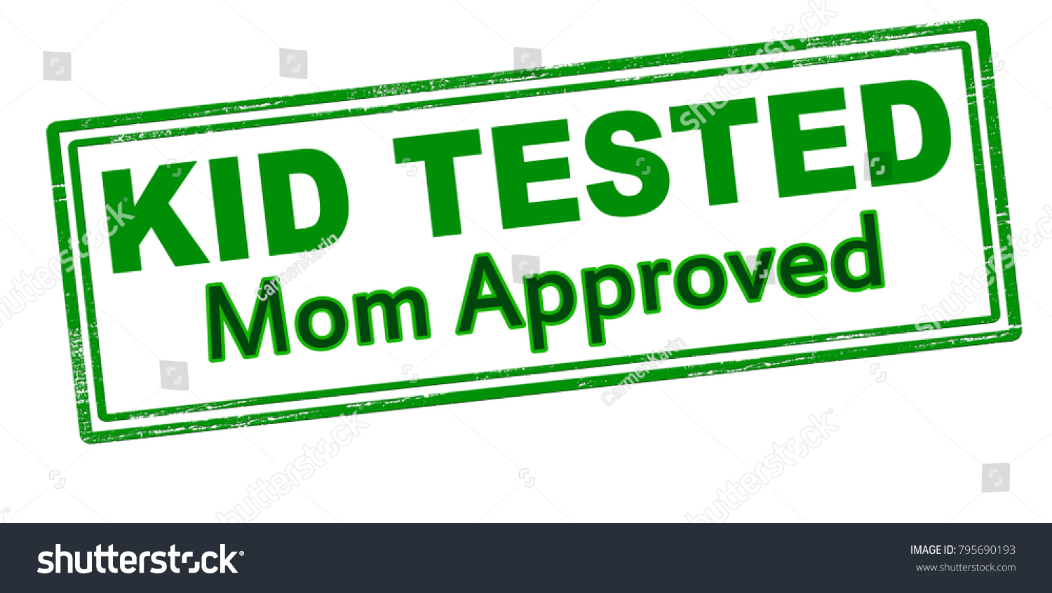 Rubber Stamp With Text Kid Tested Mom Approved Inside Vector Illustration