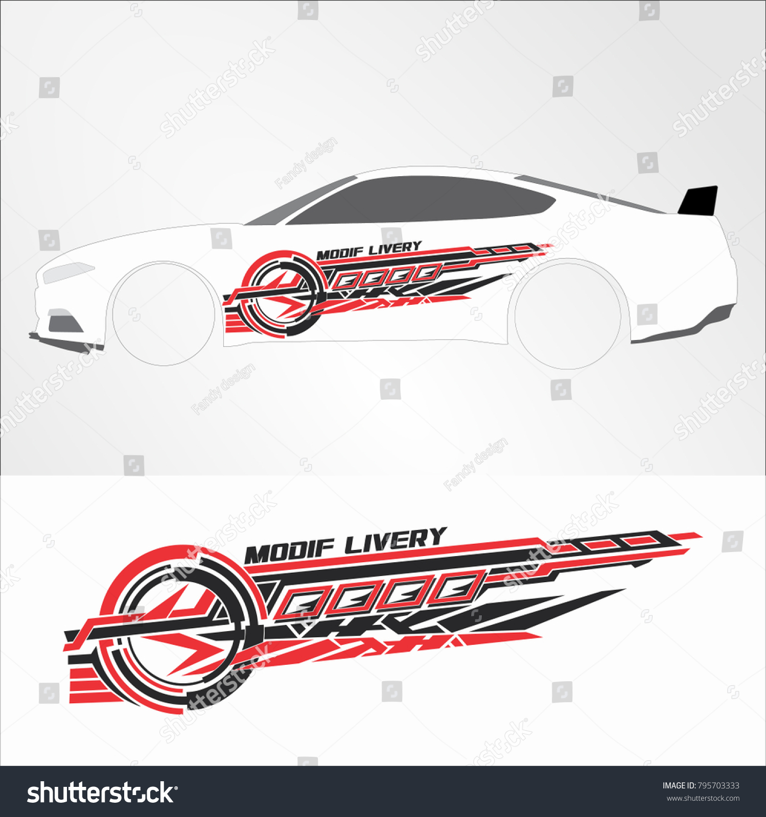 Vinyls Decals For Car Modif Sticker Motorcycle Racing Vehicle