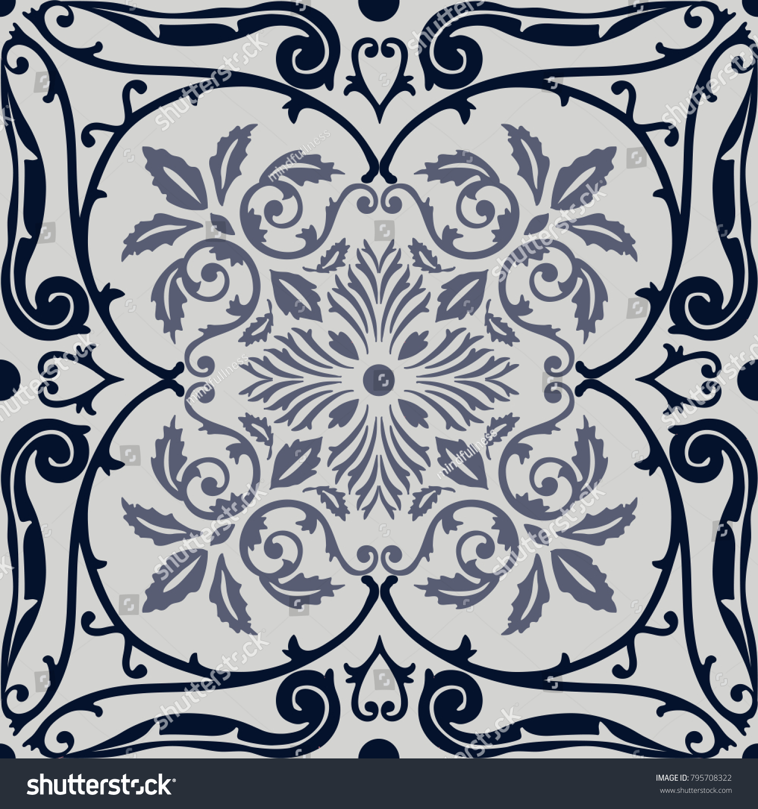 Vector Seamless Pattern Tiling Arabesque Old Stock Vector 795708322 ...