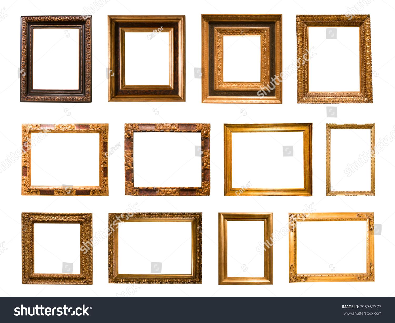 Group Beautiful Rectangular Frame Mirror On Stock Photo (Edit Now ...