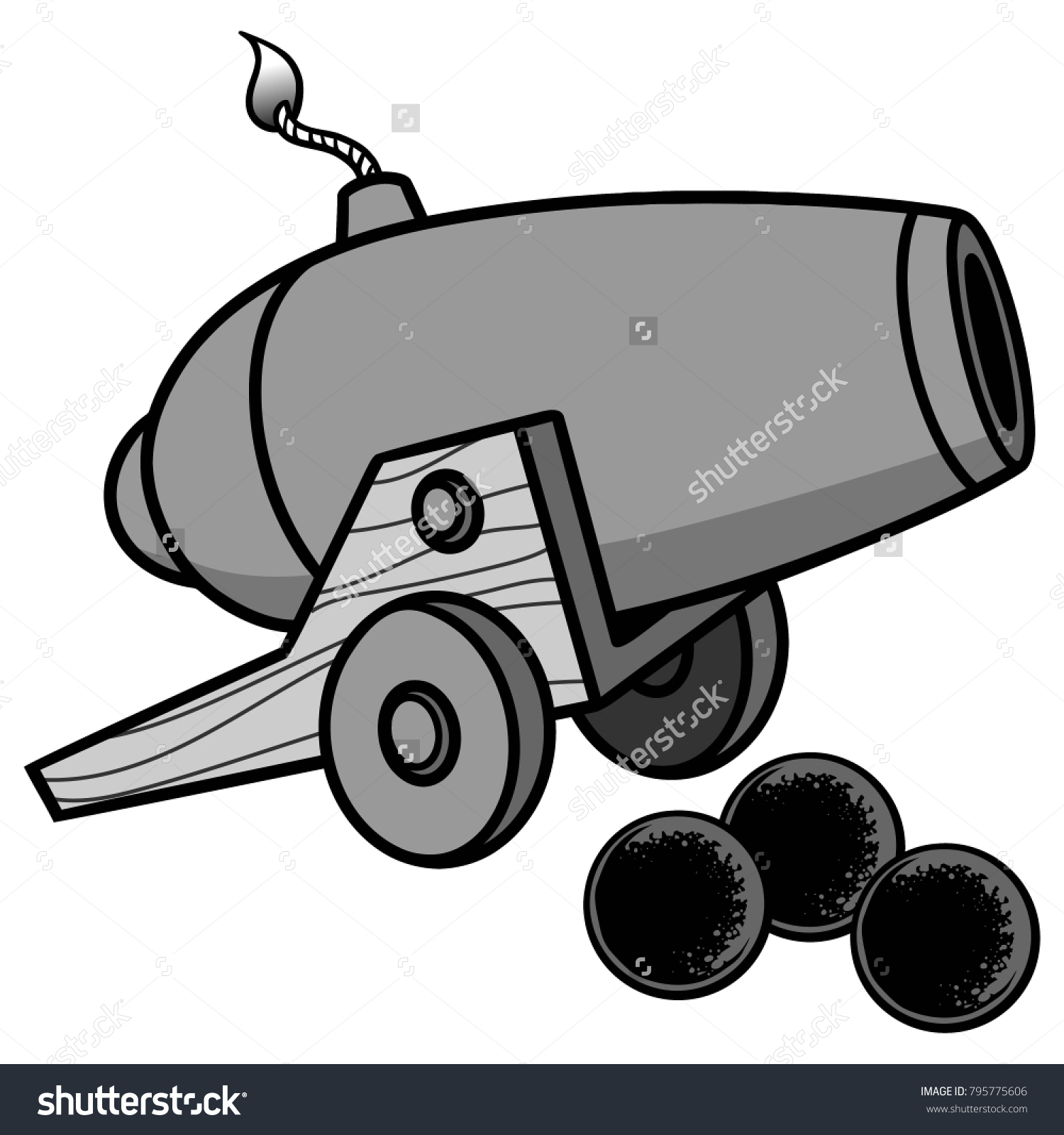 cannon illustration vector cartoon illustration cannon stock vector