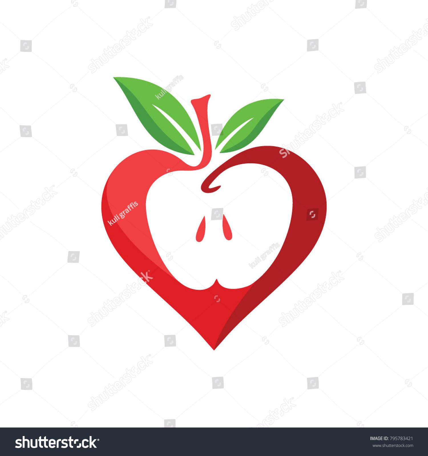 Apple love logo vector stock vector 795783421 shutterstock apple love logo vector biocorpaavc