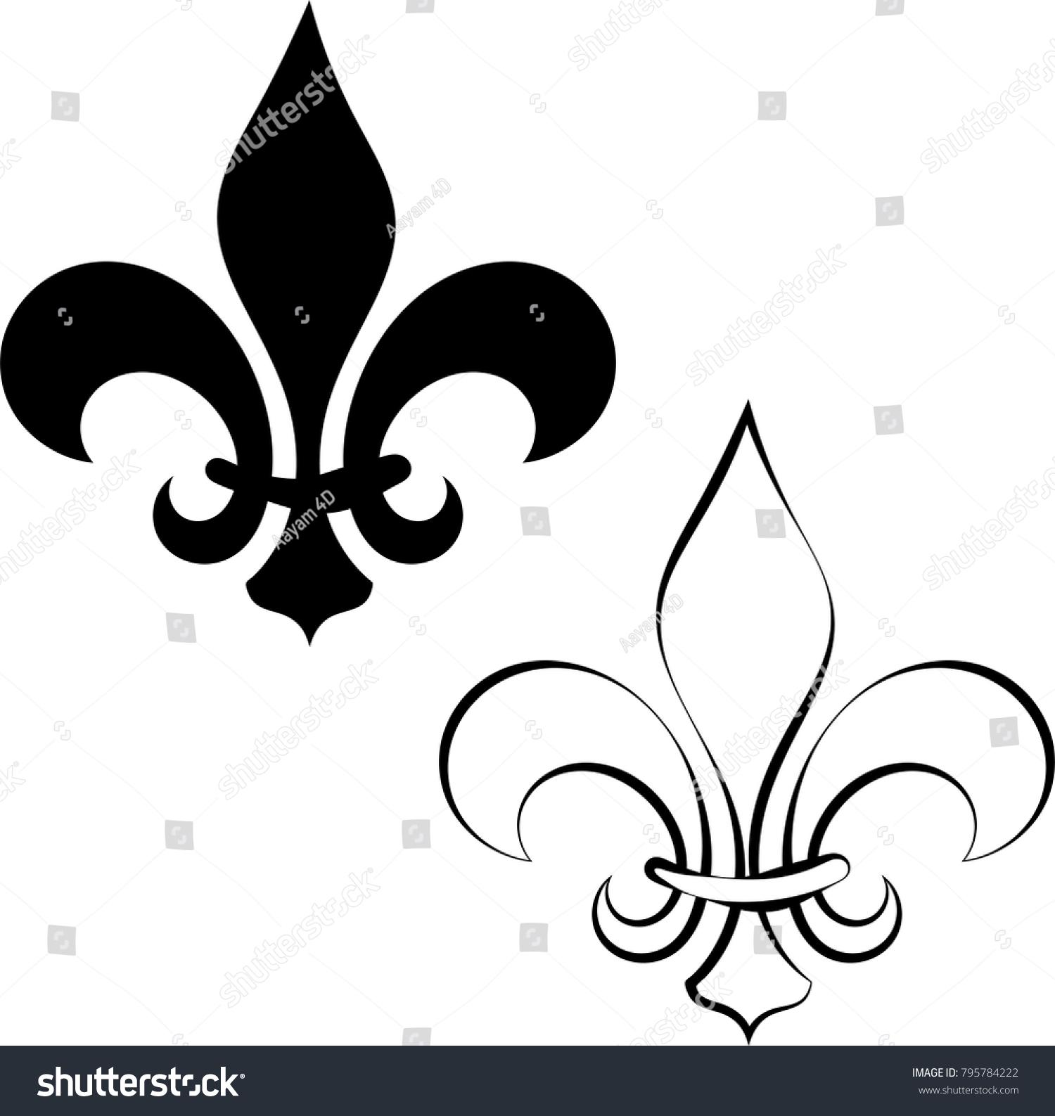 Fleur De Lis Symbol Ez Canvas