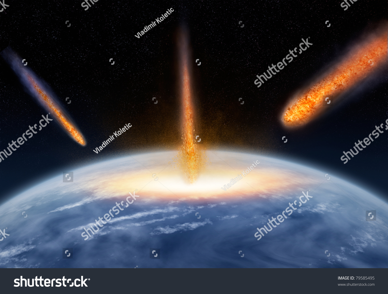 Meteors Hitting The Earth Stock Photo 79585495 : Shutterstock