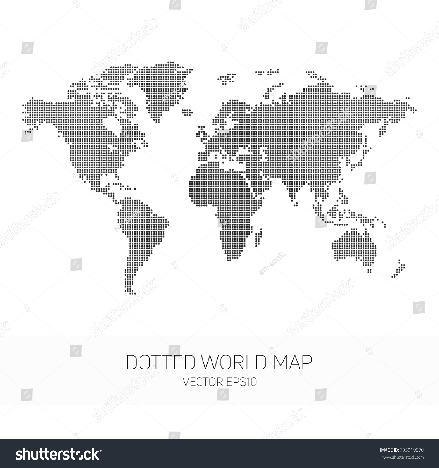 Dotted world map vector template world stock vector royalty free dotted world map vector template of world map for website cover design or gumiabroncs Choice Image