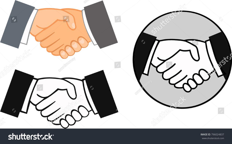 Partner Agreement Business Harmony Stock Vector Royalty Free