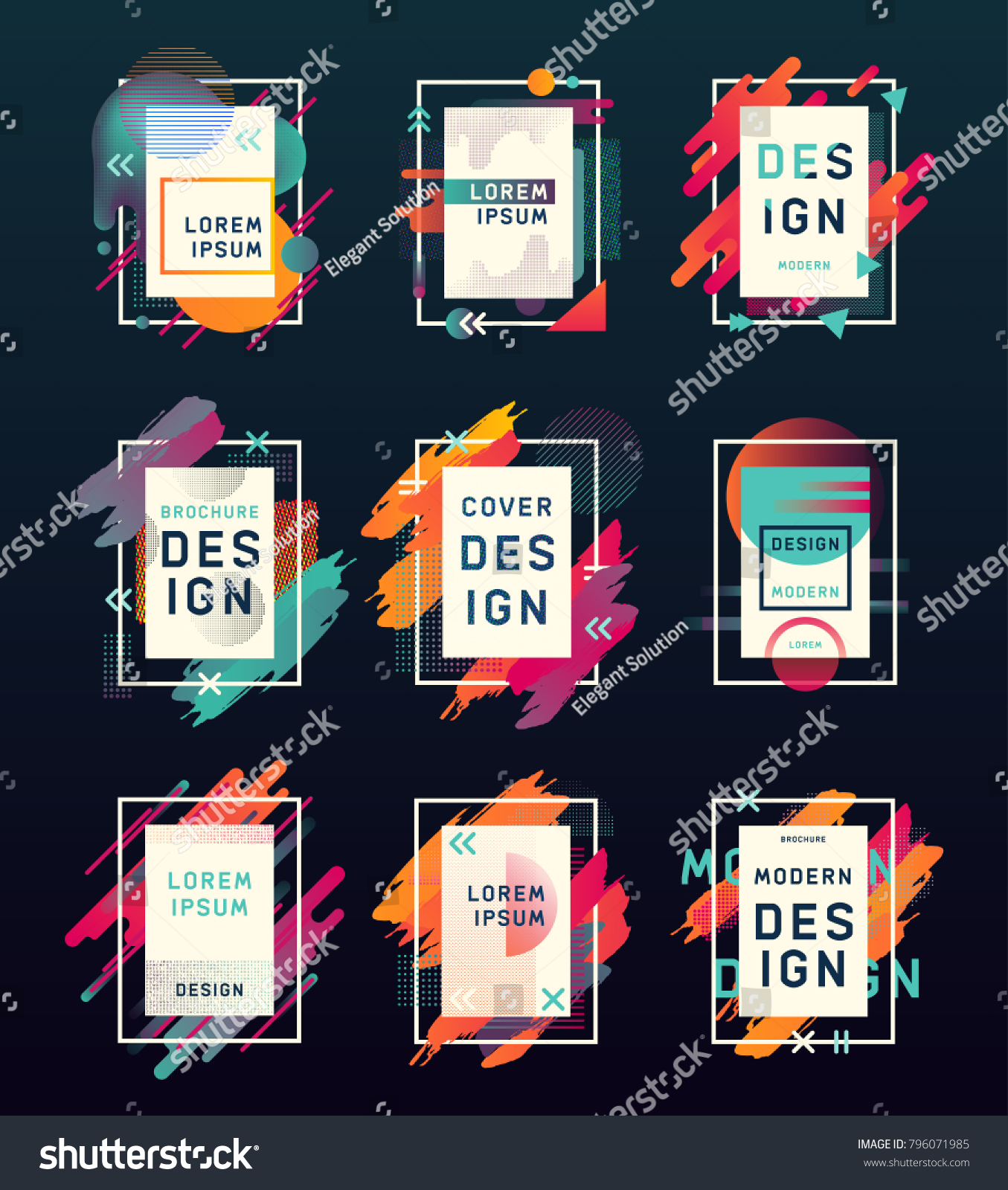 Template Blank Empty Clear Business Cards Stock Vector 796071985 ...
