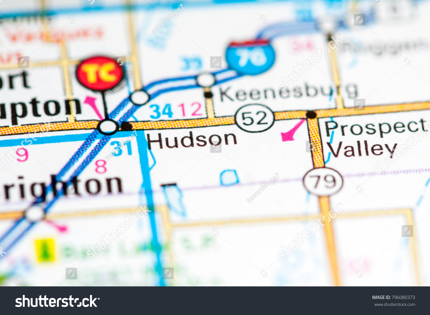 Hudson Colorado Usa On Map Stock Photo Edit Now 796080373