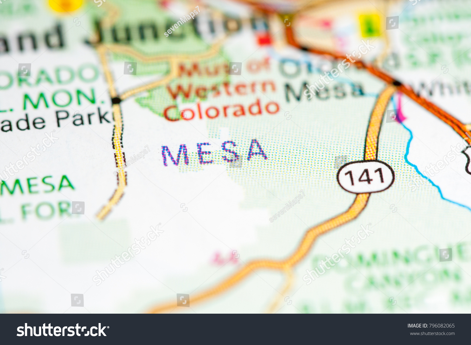 Mesa Colorado Usa On Map Stock Photo Edit Now 796082065 Shutterstock