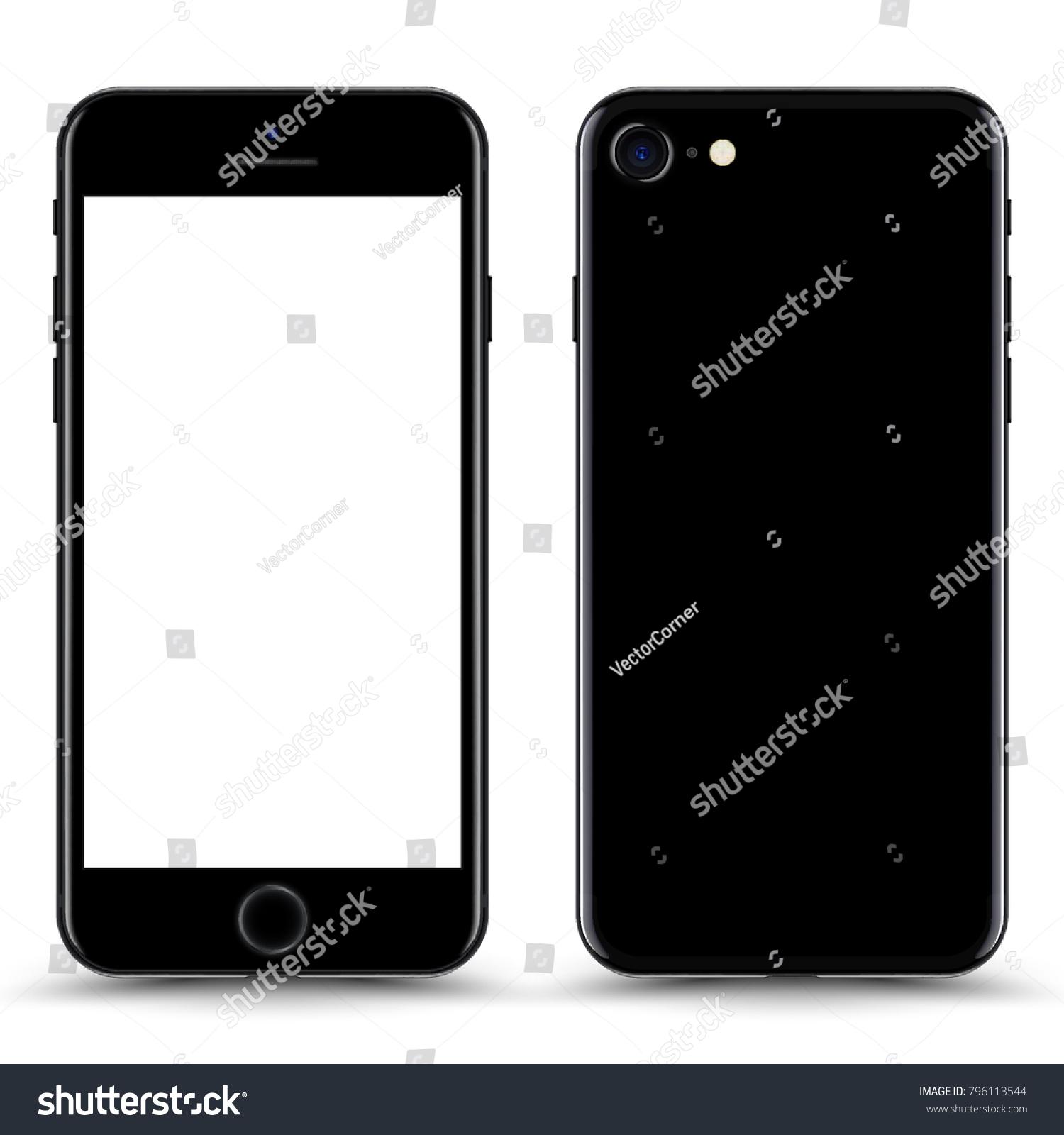 black jet smartphone mockup blank screen のベクター画像素材