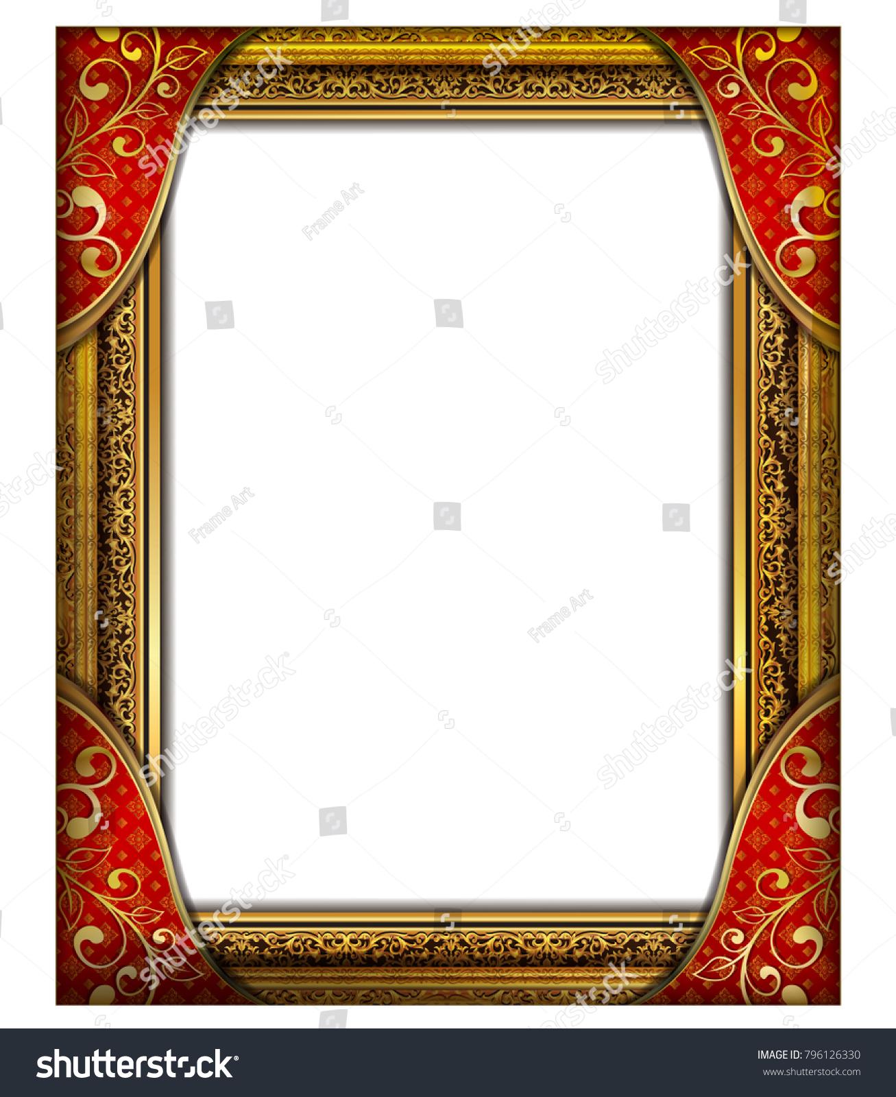 Decorative vintage frames borders setgold photo stock vector decorative vintage frames and borders setgold photo frame with corner thailand line floral for jeuxipadfo Gallery