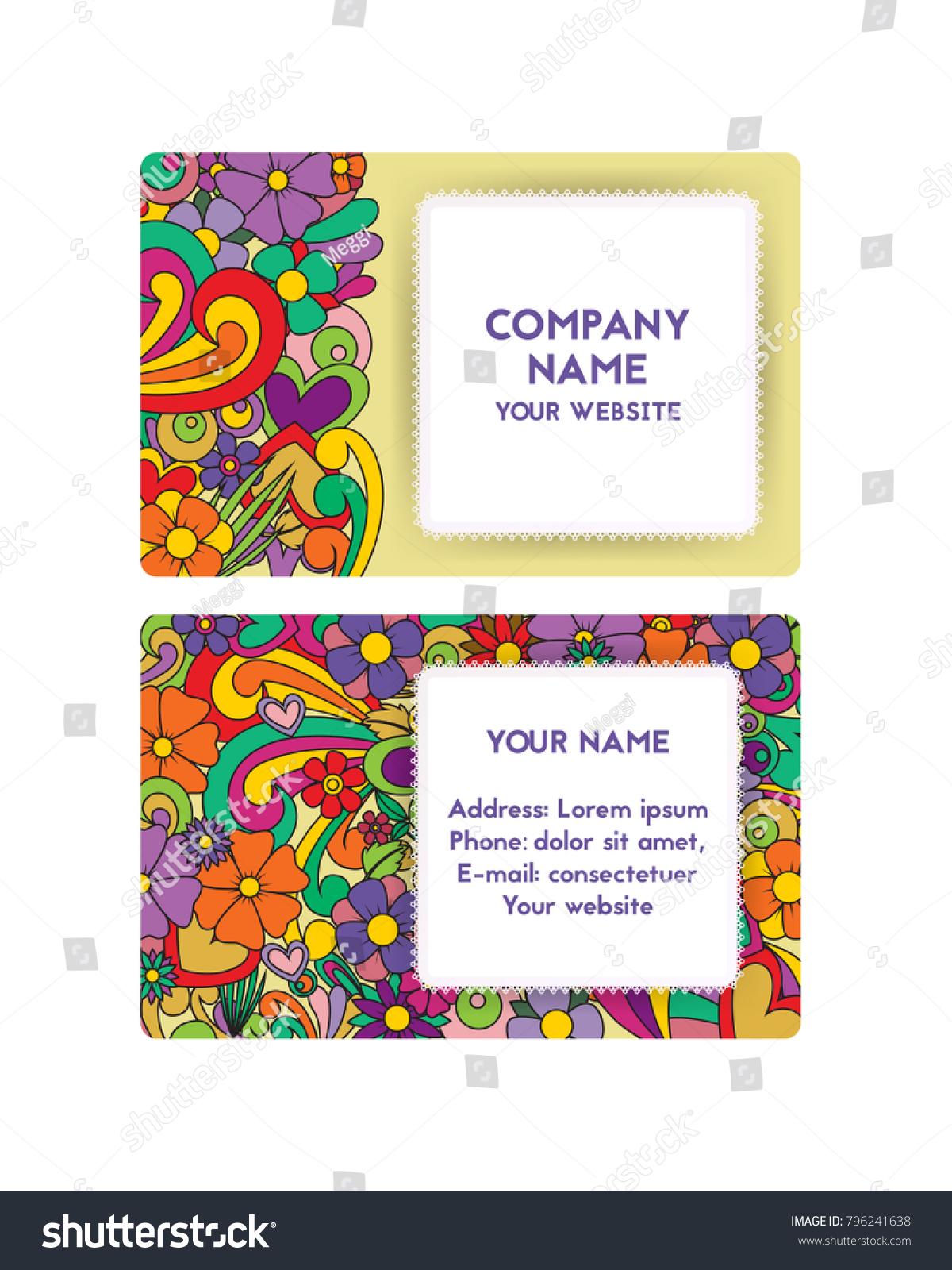 Template Business Card Organization Festivals Company Stock ...