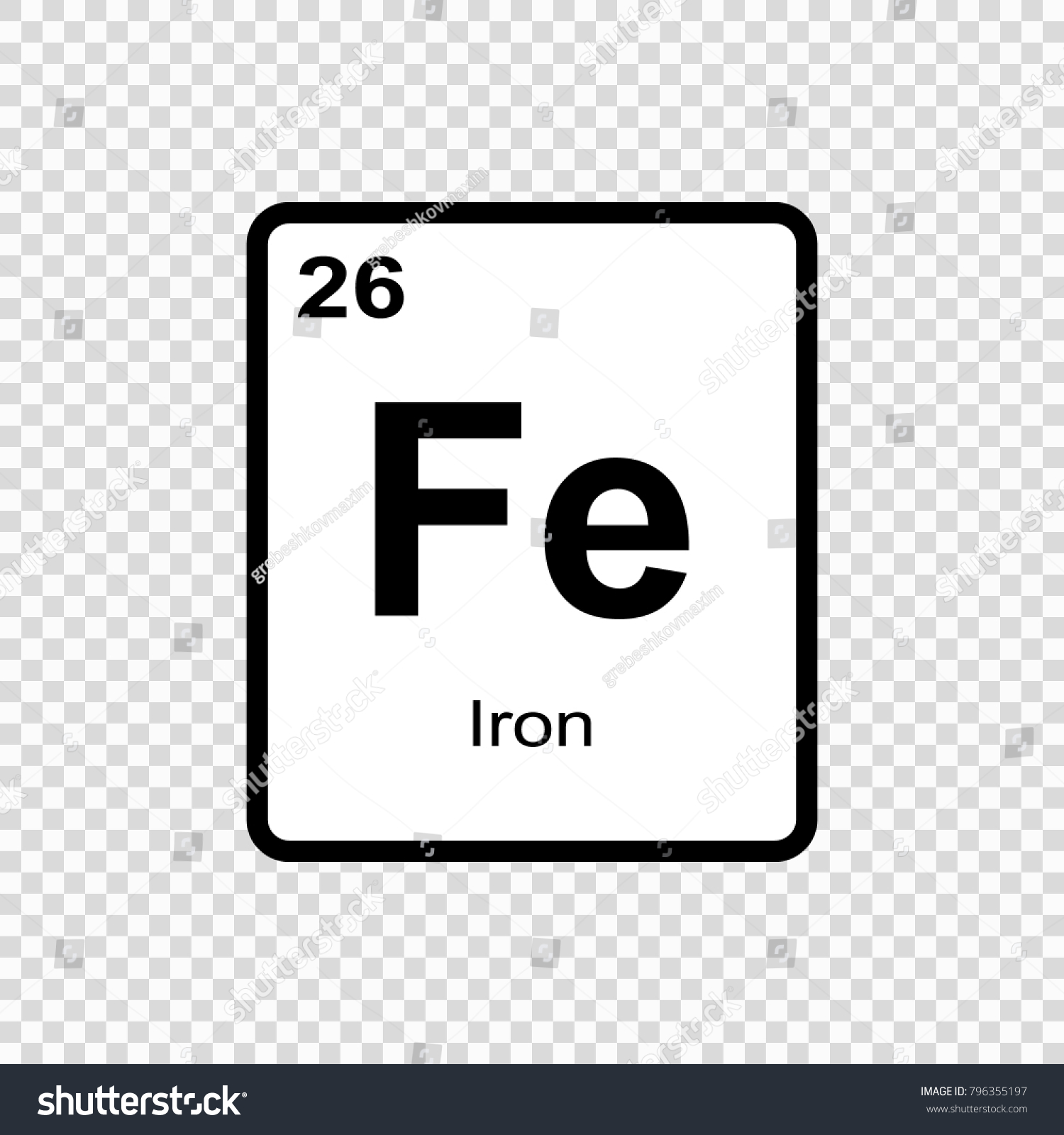 Iron chemical element sign atomic number stock vector 796355197 iron chemical element sign atomic number stock vector 796355197 shutterstock urtaz Images