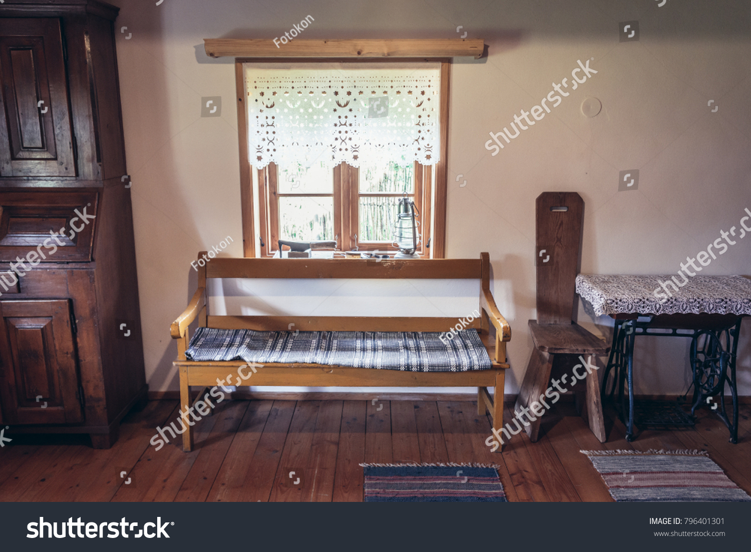 Wooden Furnitures Traditional Masurian House Poland Stock Photo (Royalty  Free) 796401301   Shutterstock