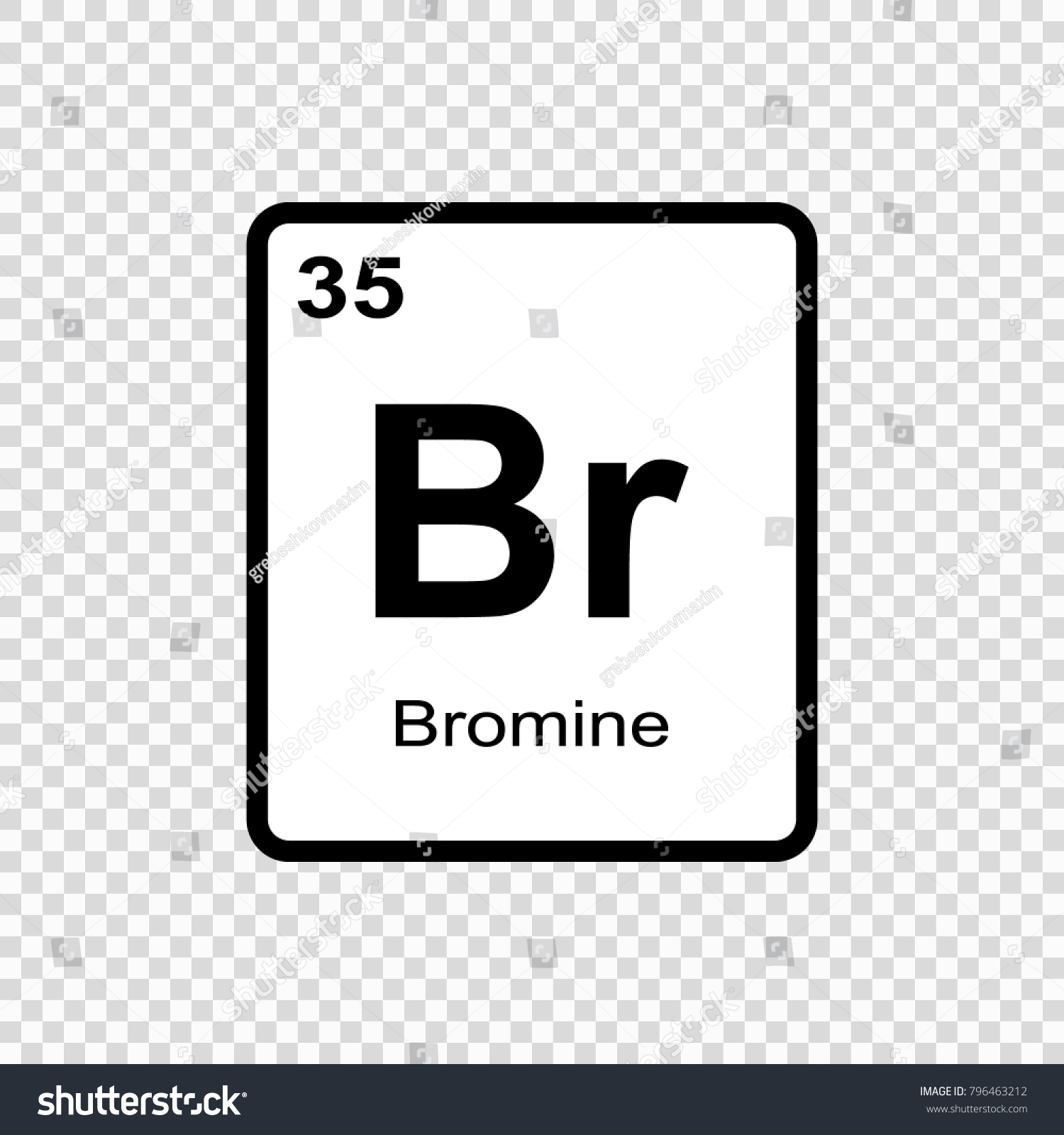 Bromine chemical element sign atomic number stock vector 796463212 bromine chemical element sign with atomic number chemical element of periodic table buycottarizona Choice Image