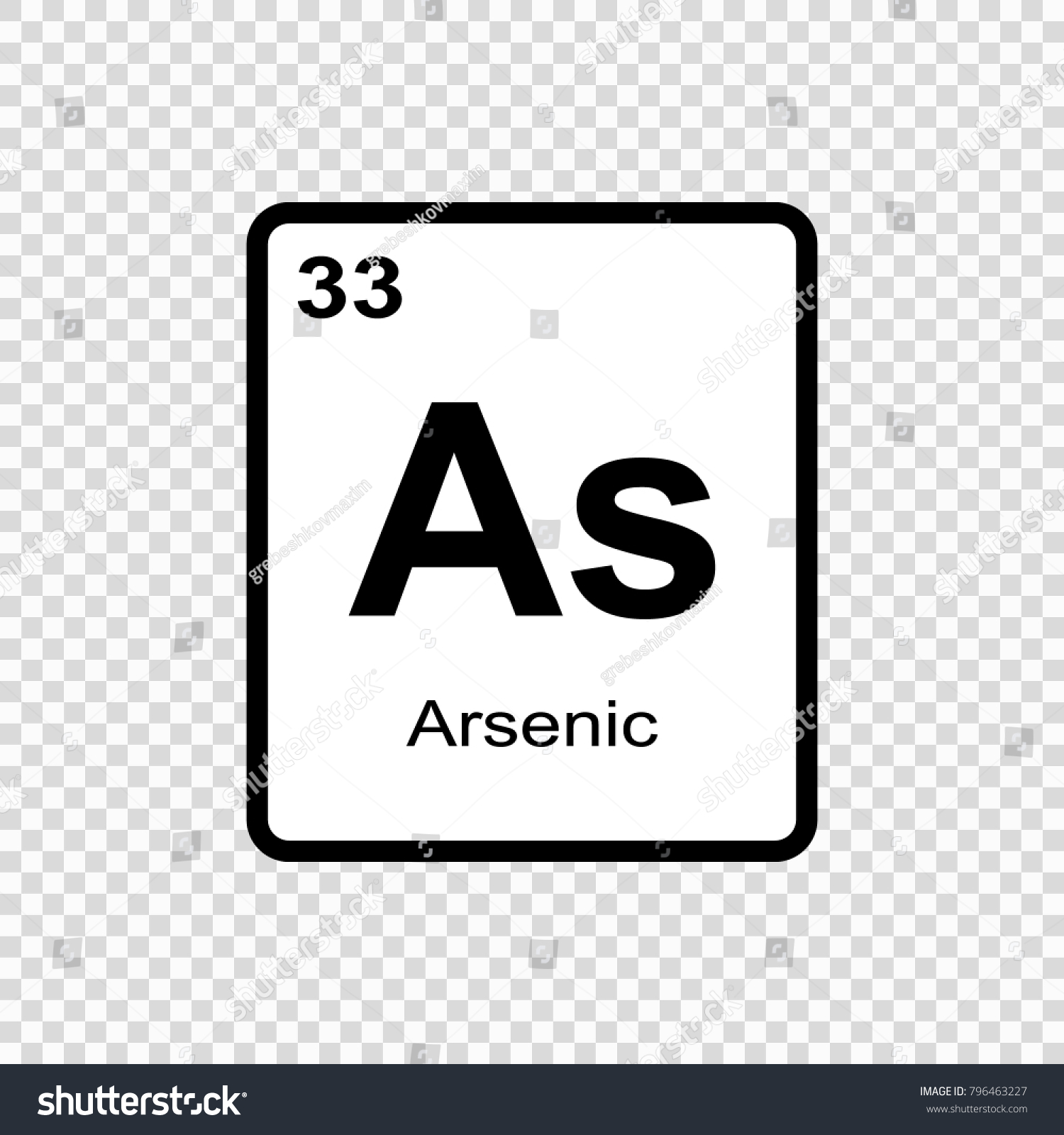 Arsenic chemical element sign atomic number stock vector 796463227 arsenic chemical element sign with atomic number chemical element of periodic table biocorpaavc Image collections