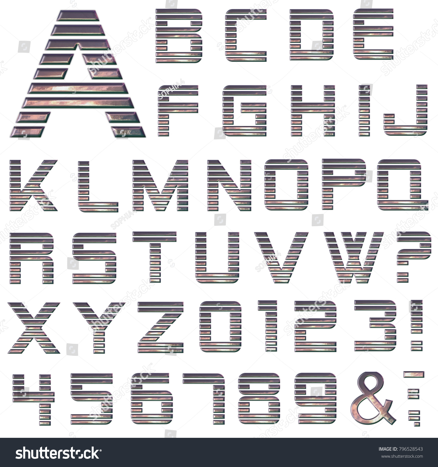Purple metallic alphabet 3d style letters stock illustration purple metallic alphabet in 3d style letters numbers and symbols biocorpaavc