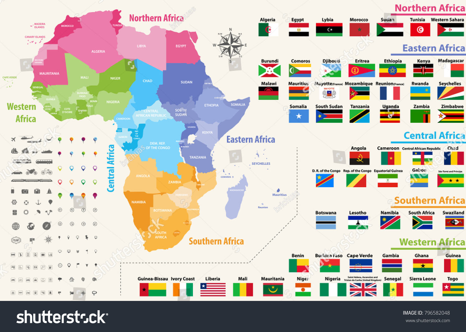 map of african continents