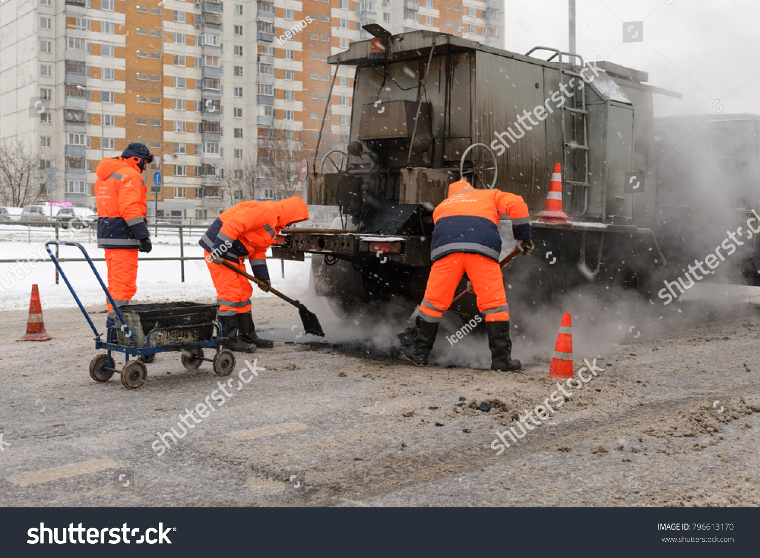 Asphalting in Moscow 80
