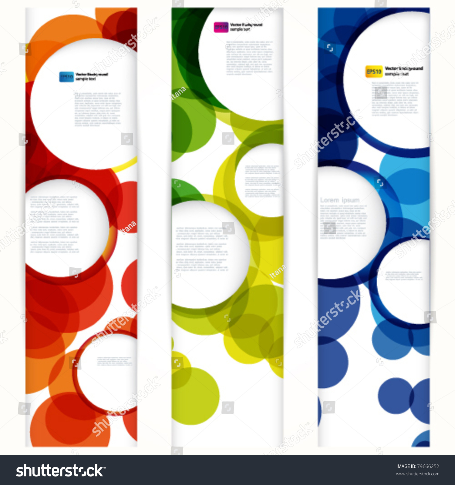 Abstract Vertical Banner Forms Empty Frames Stock Vector 79666252 ...