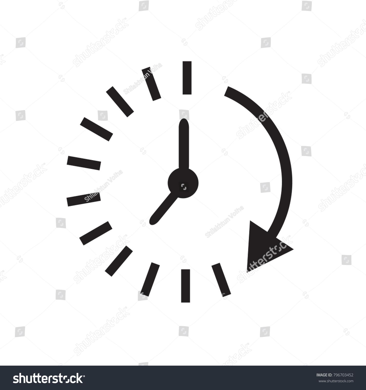 Time Icon Time Watch Timer Symbol Stock-Vektorgrafik 796703452 ...