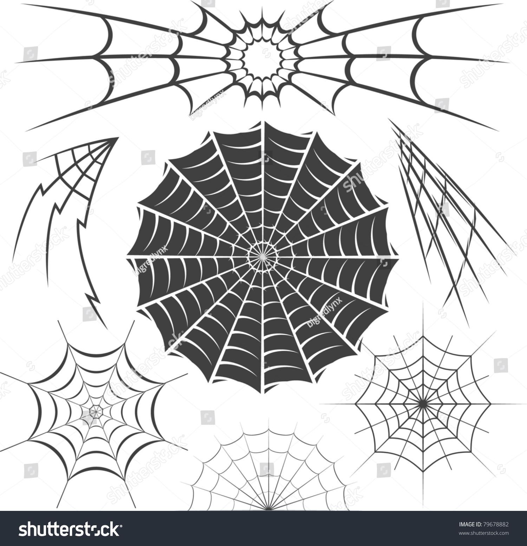 Spider Webs Stock Vector 79678882 - Shutterstock
