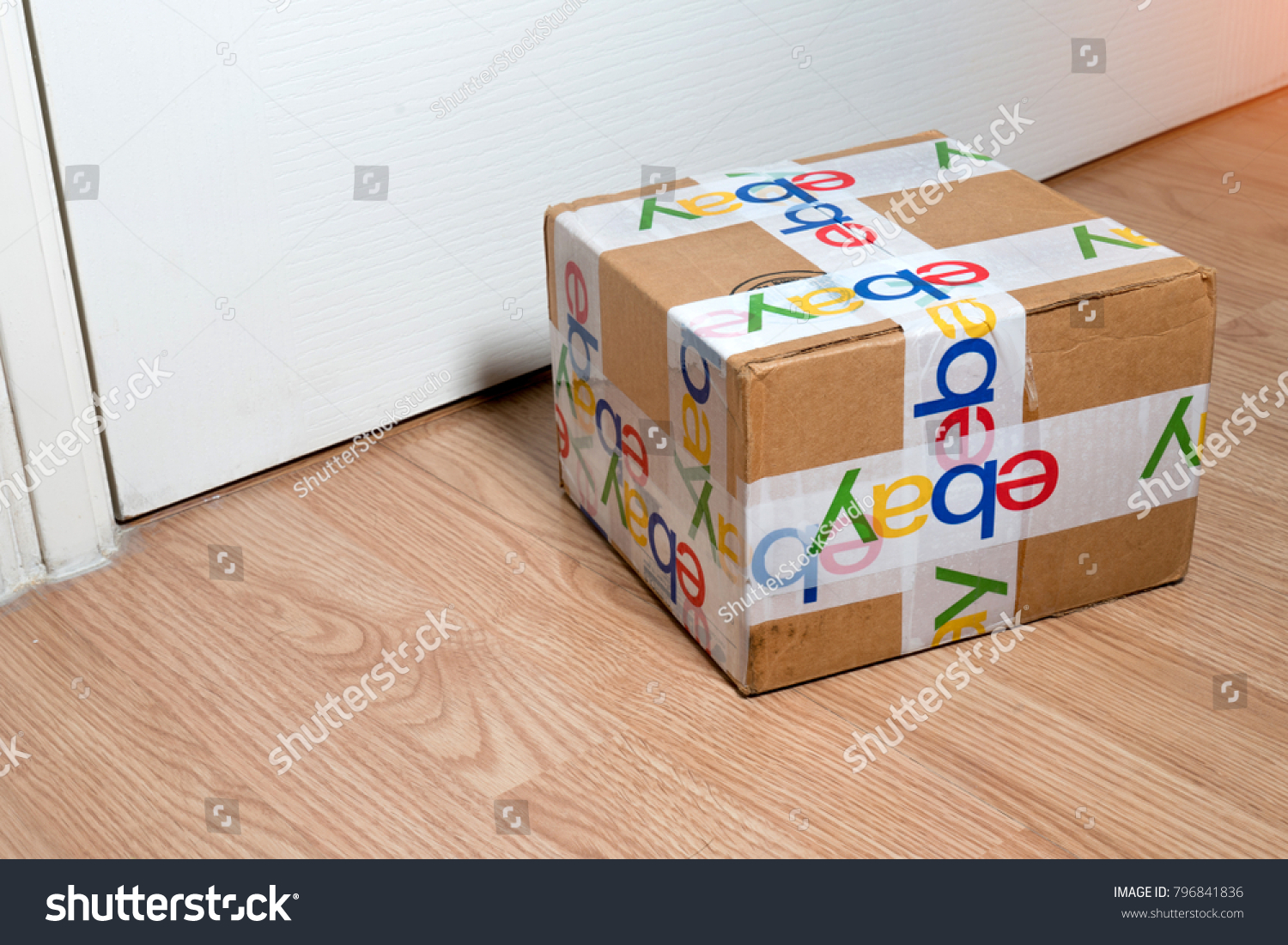 Bangkok Thailand 16 2018 Brown Paper Stock Photo Edit Now Circuit Breaker Labels Ebay Box Packaging With Security Scotch Tape