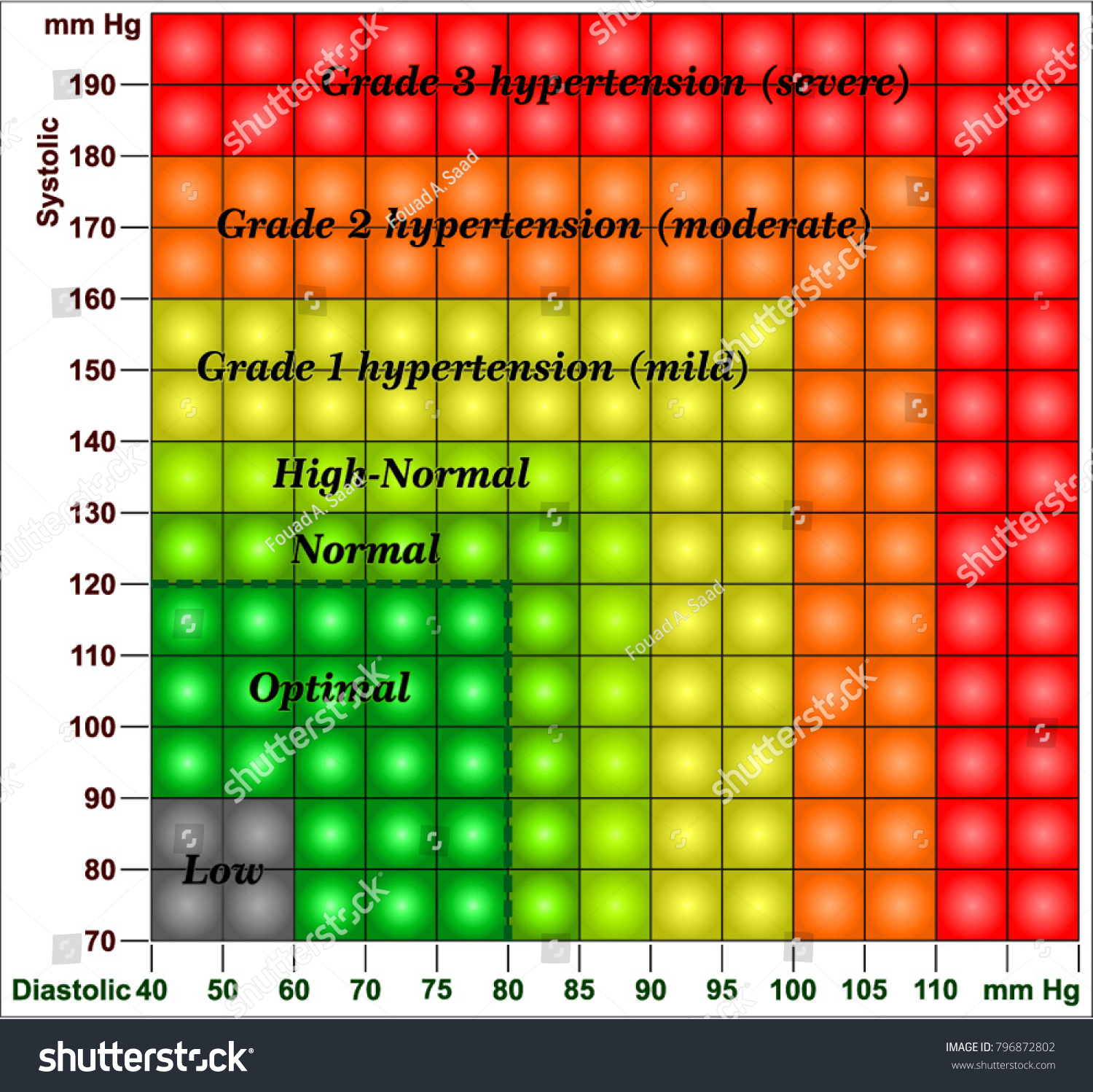Blood Pressure Chart Stock Vector Royalty Free 20