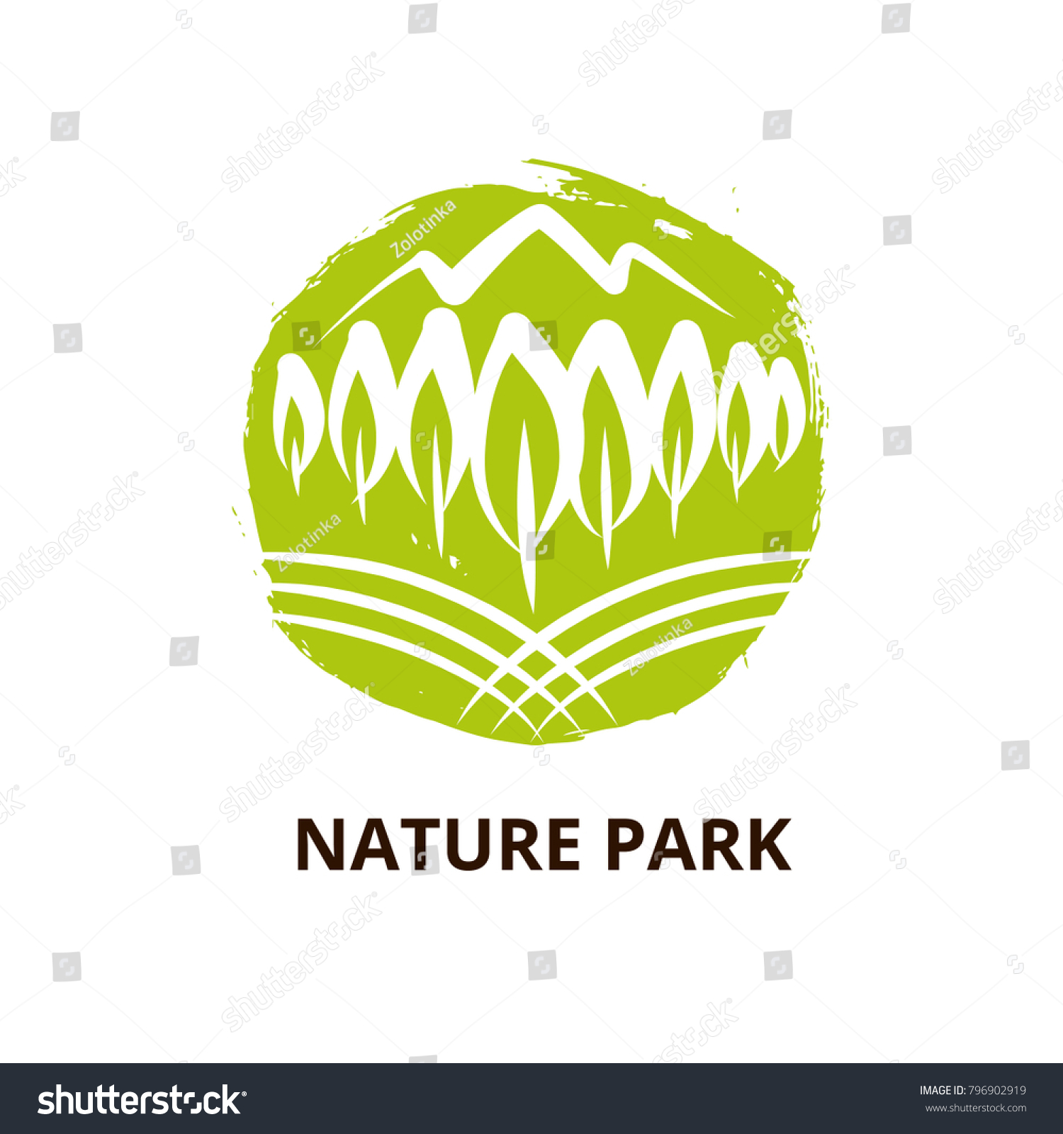 Nature National Park Mountain Template Logo Stock Vector 796902919