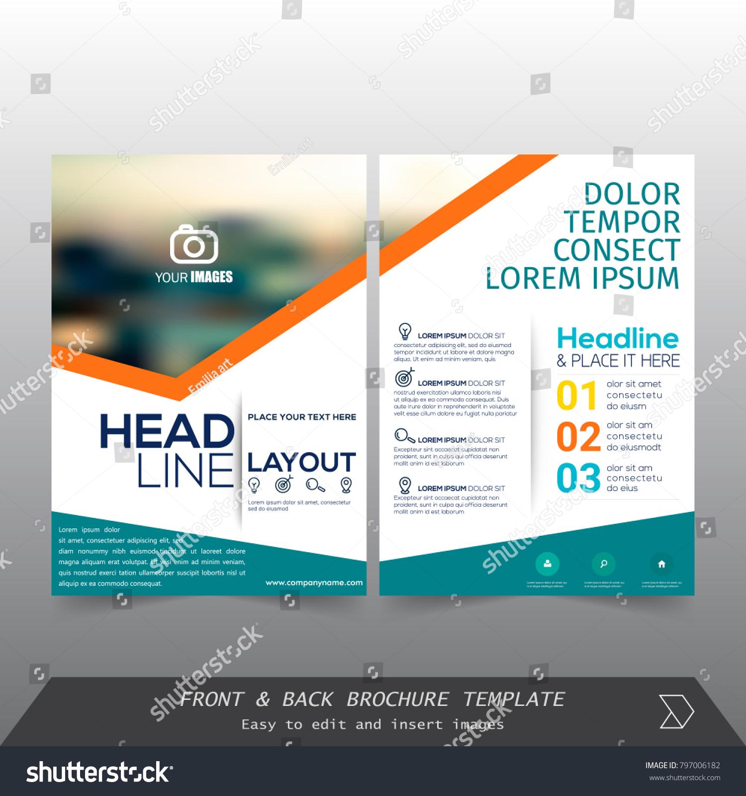 Front Back Cover Modern Business Brochure Stock-Vektorgrafik ...
