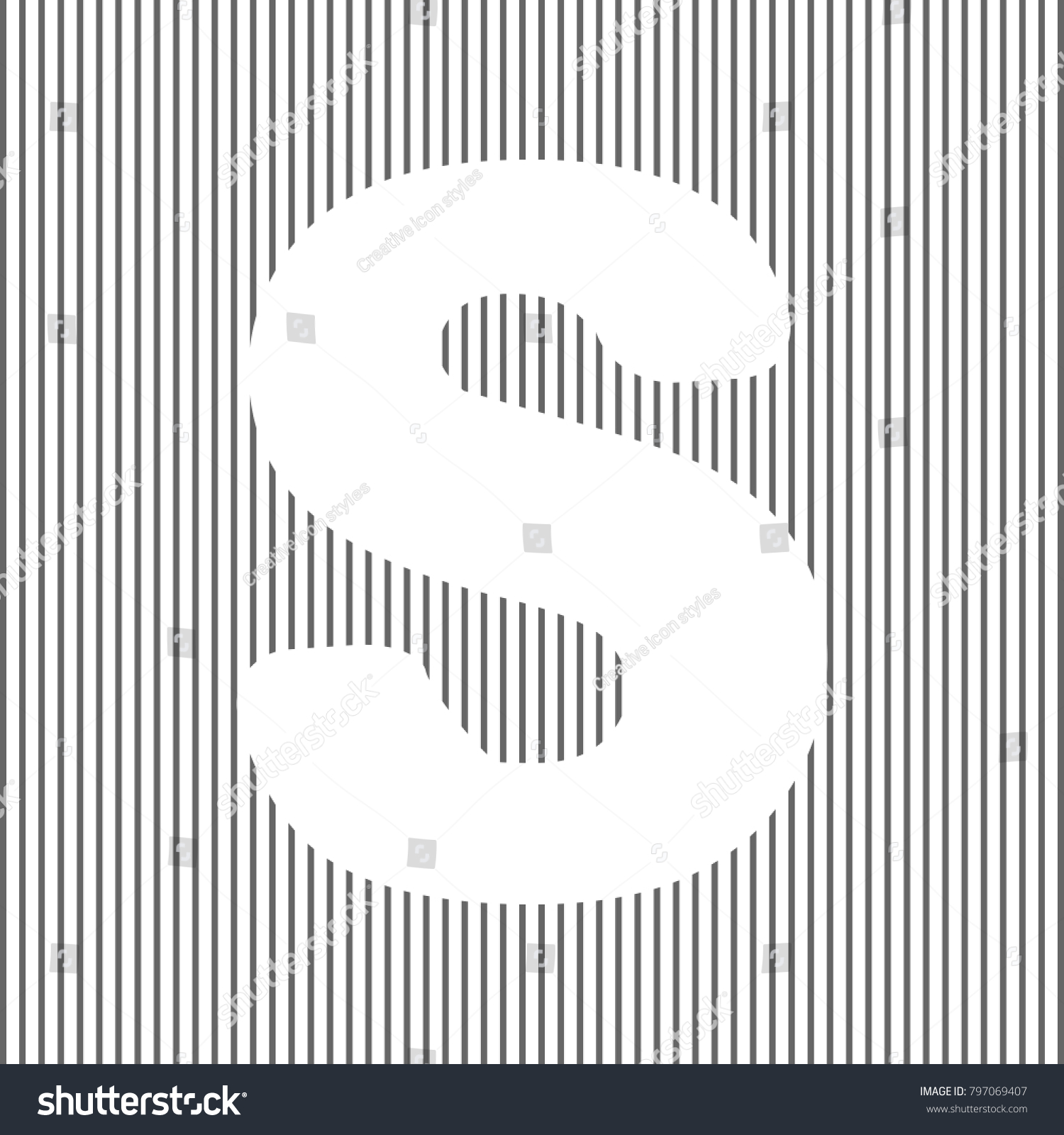 Letter S Sign Design Template Element Stock Vector (Royalty Free ...