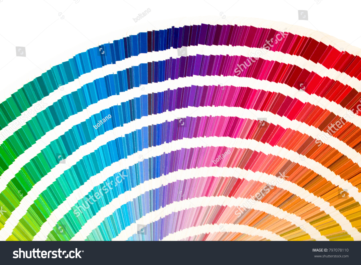 Rainbow sample colors catalogue many shades stock photo 797078110 rainbow sample colors catalogue in many shades of colors or spectrum isolated on white background nvjuhfo Images