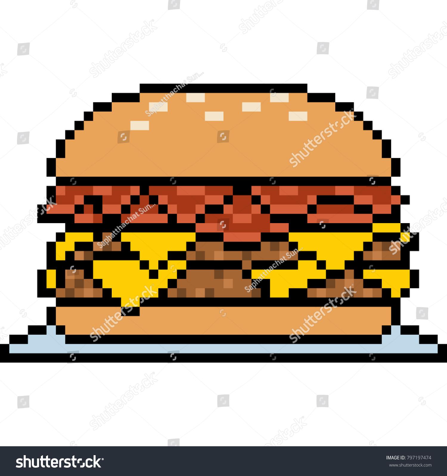Pixel Art Nourriture Hamburger