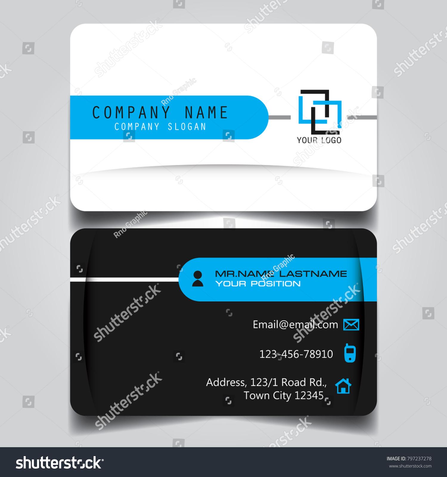 White Black Blue Creative Modern Name Stock Vector 797237278 ...