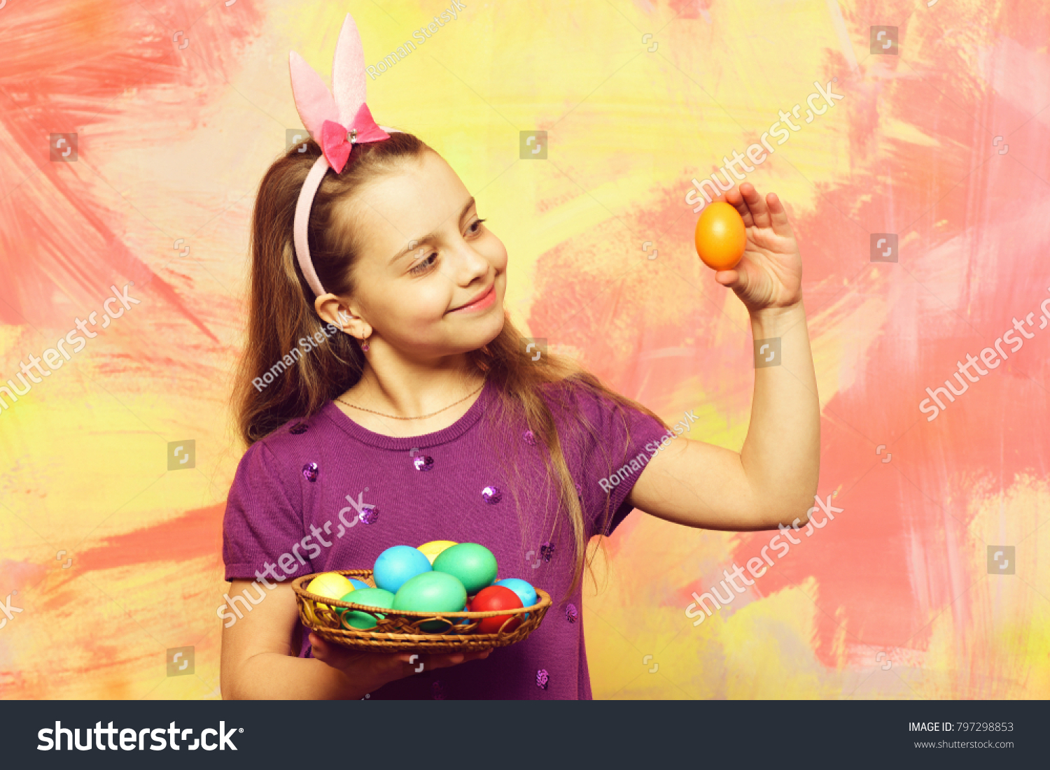Small Baby Girl Cute Child Happy Stock Photo Edit Now 797298853