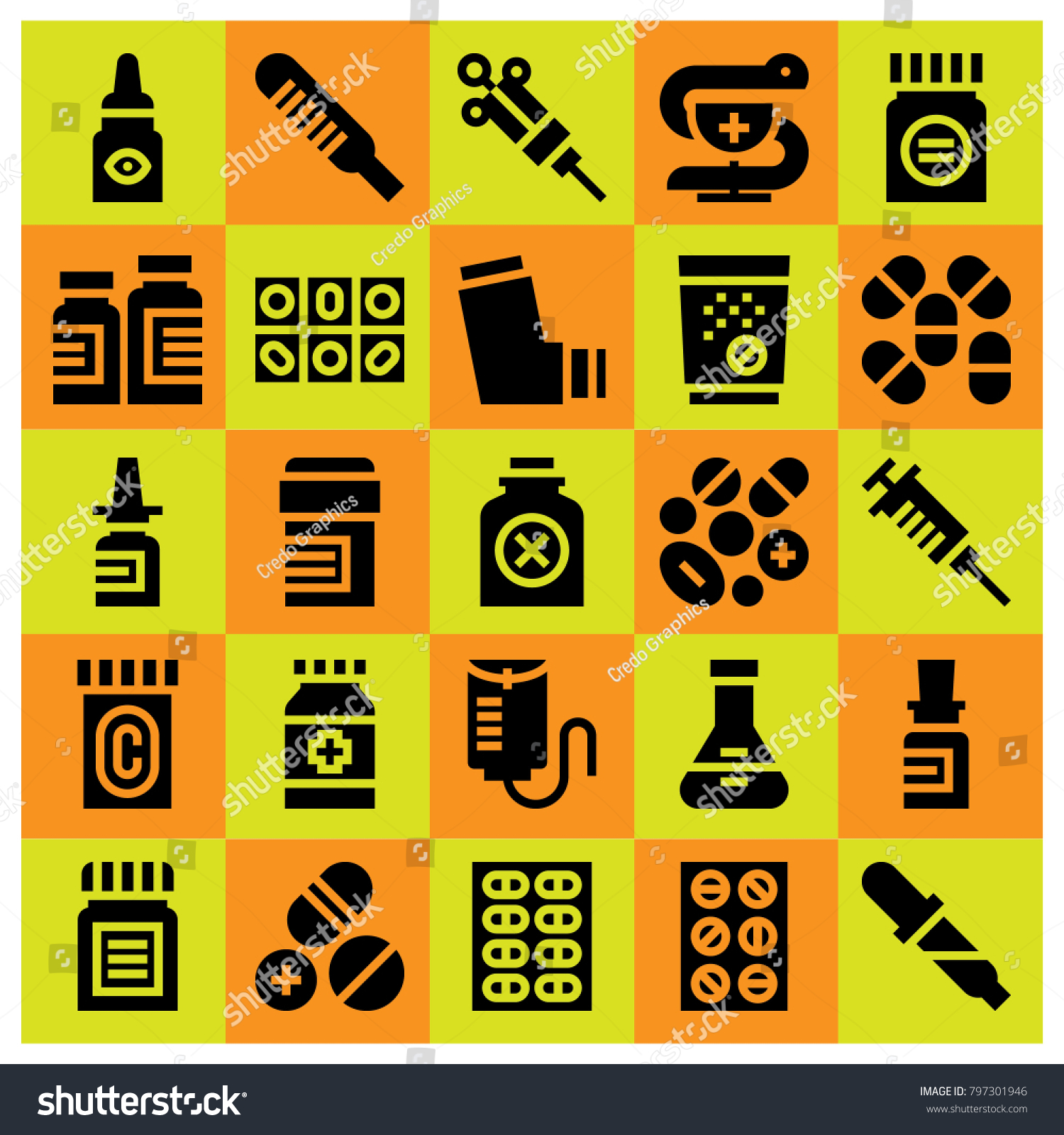 Medical icon set vector poison drop stock vector 797301946 medical icon set vector poison drop counter flask and bottle biocorpaavc Image collections